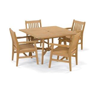 Breakwater Bay Laney 5 Piece Wood Dining Set