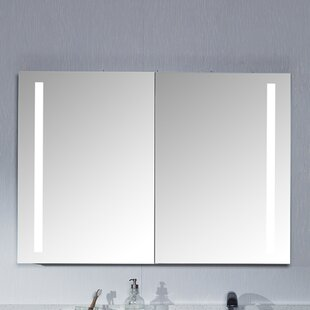Compare Bailey 39.37 x 27.56 Surface Mount Medicine Cabinet with LED Lighting By Maykke
