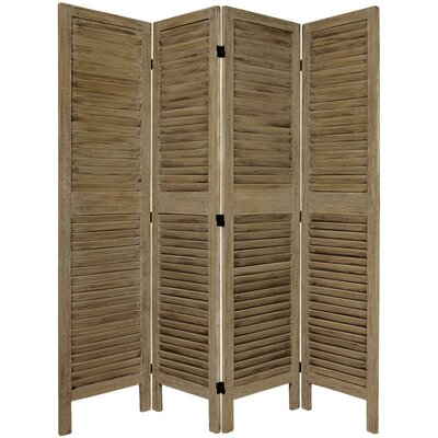 Jeanpierre Room Divider Color: Burnt Gray, Number of Panels: 4 by August Grove