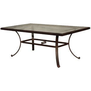 Mentone Glass Dining Table by Darby Home Co