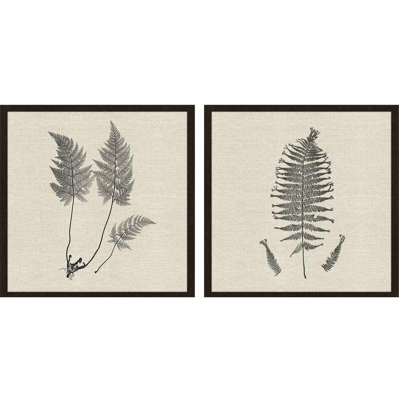 Gracie Oaks Modern Ferns I By Langdon 2 Piece Picture Frame Print Set Wayfair