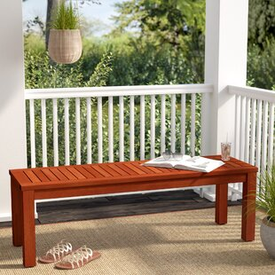 Elsmere Eucalyptus Picnic Bench by Beachcrest Home