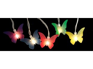 High-End 10-Light Butterfly Summer String Lights (Set of 10) By Sienna Lighting
