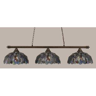 Red Barrel Studio Mendez 3-Light Mosaic Tiffany Shade Billiard Light