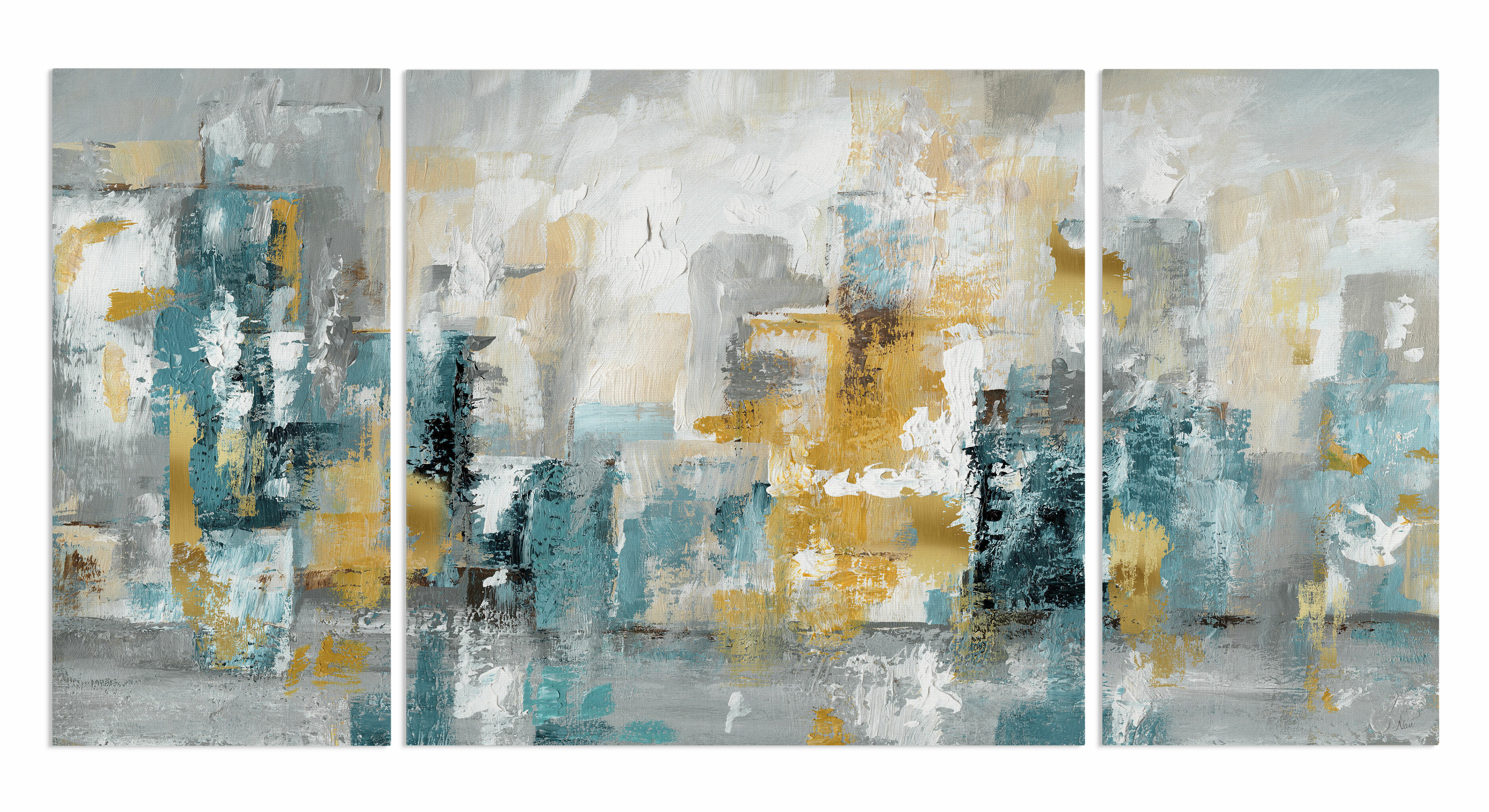 Nautical Geometric 24x36 Gallery Wrapped Stretched Canvas Connecticut