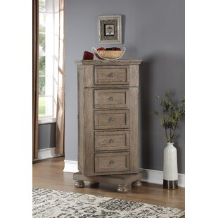 Gabriele Swivel 5 Drawer Lingerie Chest by August Grove