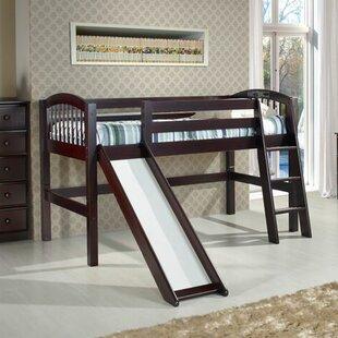 Oakwood Twin Wood Low Loft Bed by Harriet Bee