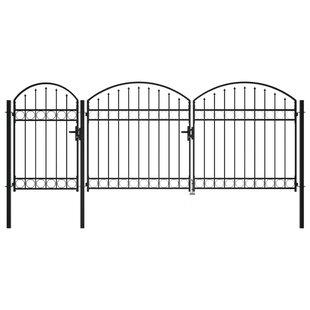 Safflower 13' X 7' (4m X 2m) Metal Gate By Sol 72 Outdoor