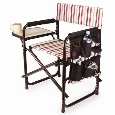 Auriville Folding Director Chair Freeport Park Color: Moka