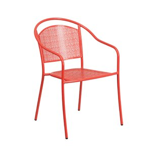 Blackford Round Back Stacking Patio Dining Chair by Wrought Studio