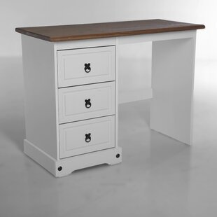 Swink 3 Drawer Office Solid Wood Desk