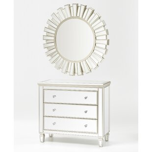 Rudd 3 Drawer Dresser with Mirror (Set of 2) by Rosdorf Park