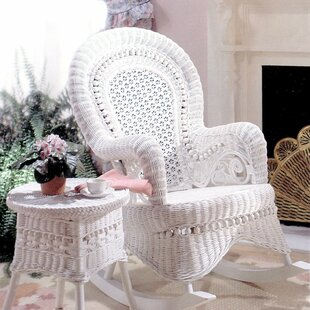 Yesteryear Wicker Country Rocking Chair with Cushion