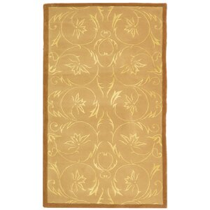 French Tapis Hand-Tufted Beige Area Rug