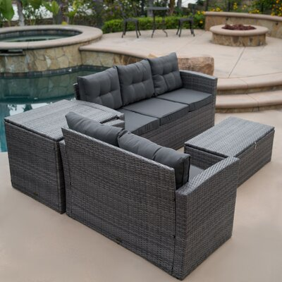 Astonishing Rowley Patio Sofa Set With Cushions Fleur De Lis Living Pdpeps Interior Chair Design Pdpepsorg