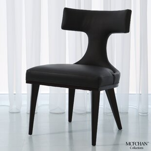 Anvil Back Leather Side Chair by Global Views