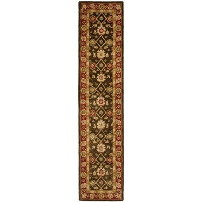 "Thao Hand-Tufted Wool Rust Area Rug Lark Manor Rug Size: Runner 2'3"" x 10'"