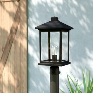 Reviews Leroy Modern 1-Light Beveled Glass Lantern Head By 17 Stories