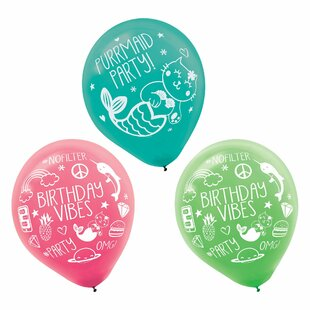 Selfie Celebration Printed Latex Disposable Balloons (Set of 36)