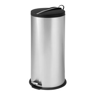 Metal Trash Can With Lid Wayfair