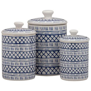 3 Piece Kitchen Canister Set by Bungalow Rose Sale