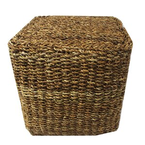 Miner Sea Grass Cube Pouf Ottoman by Highland Dunes