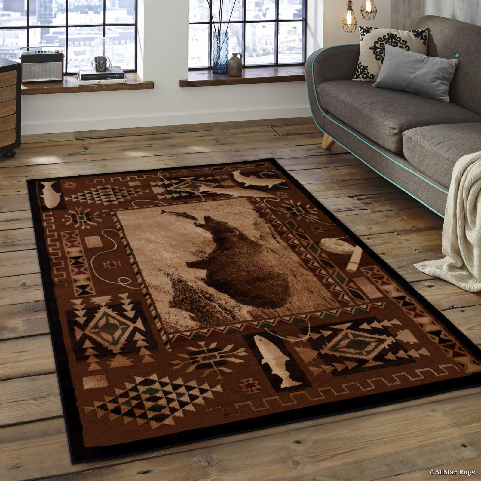 Loon Peak Lacour High Quality Woven Ultra Soft Traditional Southwest River Theme Berber Area Rug Reviews Wayfair