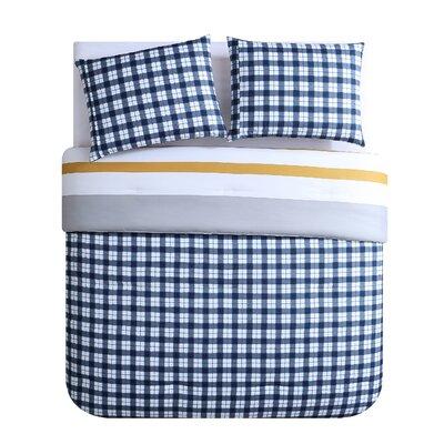 Rizzo Stripe Reversible Comforter Set Wrought Studio Size: Queen Comforter + 2 Shams