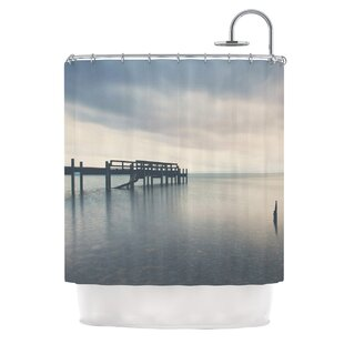 Waiting for the Storm to Pass by Laura Evans Single Shower Curtain