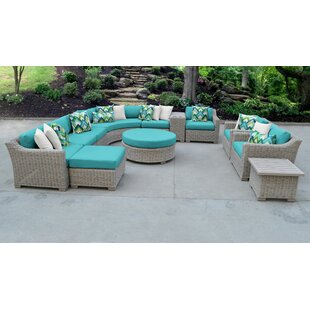 Coast Outdoor 12 Piece Sectional Seating Group with Cushions