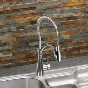 Elkay Avado Single Handle Deck Mount Kitchen Faucet with Pre Rinse Spray