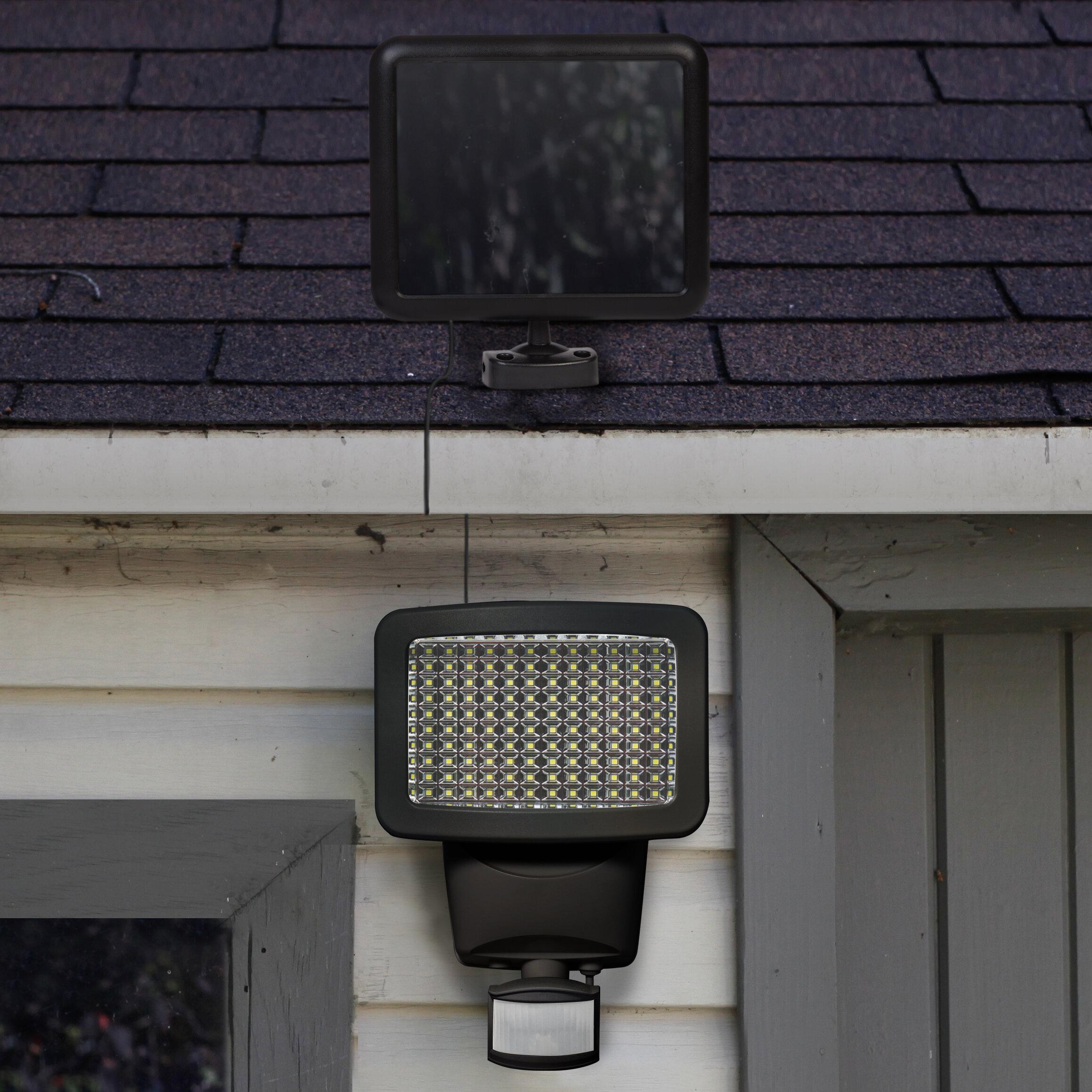 Sunforce Solar Power Outdoor Security Flood Light With Motion Sensor Reviews Wayfair