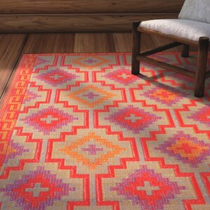 patterson reversible red area rug - Rustic Area Rugs