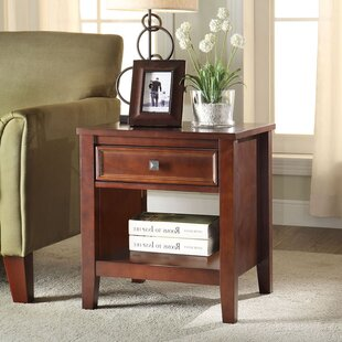 Nelsonville End Table With Storage by Alcott Hill