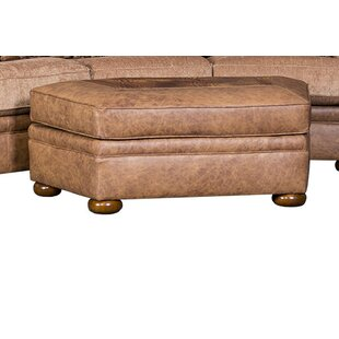 Bedingfield Leather Cocktail Ottoman by Fleur De Lis Living