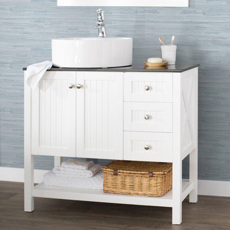 Beachcrest Home Nadel 36 Single Bathroom Vanity Set Reviews Wayfair