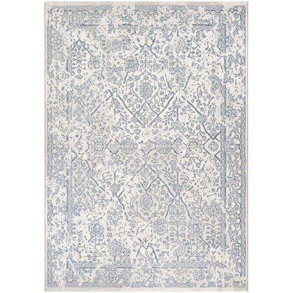 lark manor elise oyster/slate blue area rug & reviews | wayfair