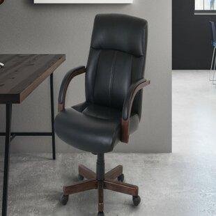 Red Barrel Studio Haugen Wood-Trim Office Chair