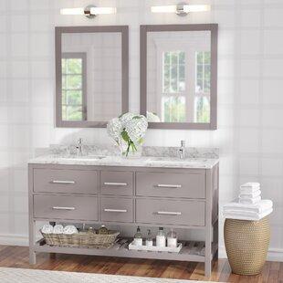 Rizer 61 Double Bathroom Vanity with Mirror By Willa Arlo Interiors