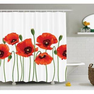 Spring Season Flowers Shower Curtain ByEast Urban Home