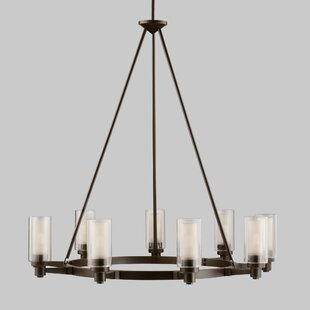 Circolo 9 Light Shaded Chandelier by Kich..