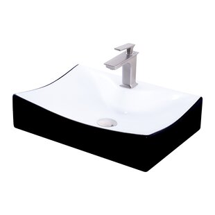Compare & Buy Ceramic Rectangular Vessel Bathroom Sink with Faucet By Novatto