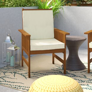 Arianna Outdoor Hardwood Chair with Cushion