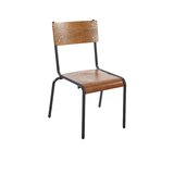 Metal Stacking Side Chair in Black by BFM Seating