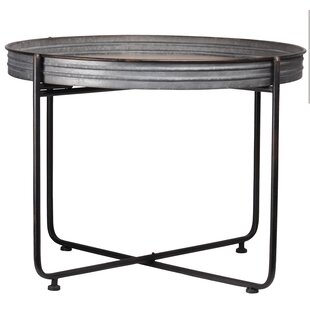 Charming Rosann Metal Round Coffee Table