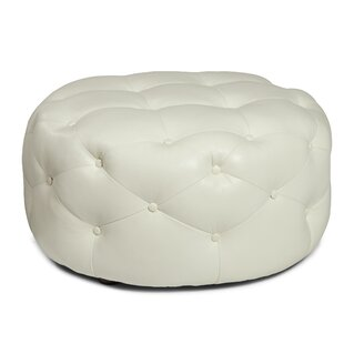 Simon Leather Tufted Cocktail Ottoman by Everly Quinn