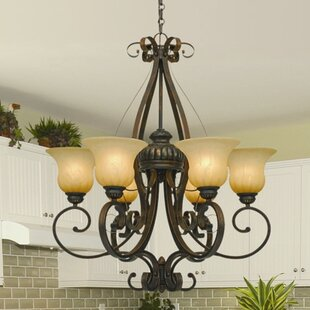 Three Posts Gregory 6-Light Shaded Chandelier