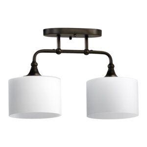 Heyworth 2-Light Ceiling Mount in Oiled Bronze