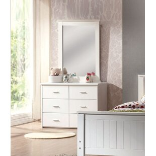 Harriet Bee Evangelista 6 Drawer Double Dresser with Mirror Image