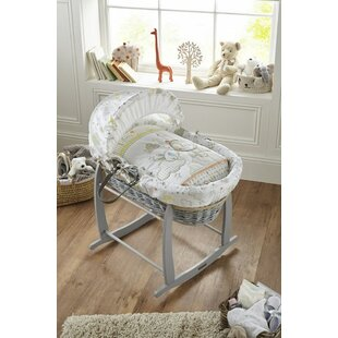 Creative Rocking Moses Basket Stand Durable In Use Nursery Furniture